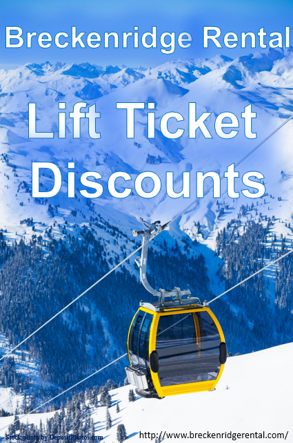 Breckenridge Rental Lift Ticket Discounts