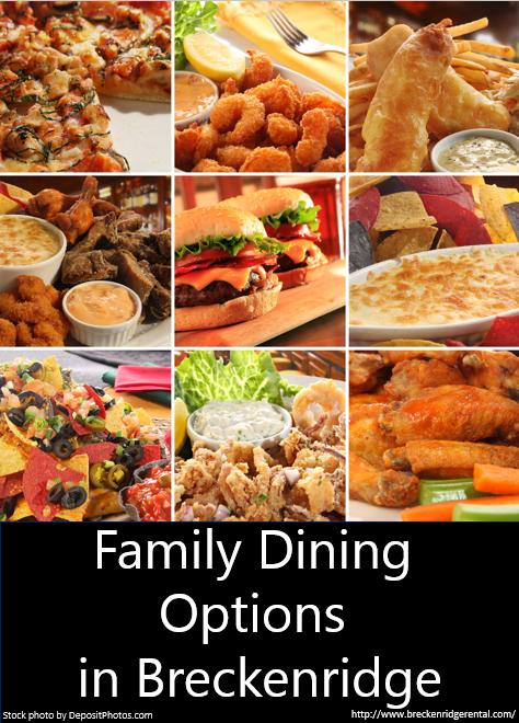 Family Dining in Breckenridge